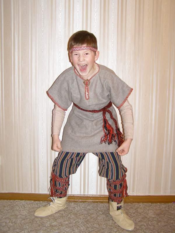 Детский костюм викинга своими руками 2